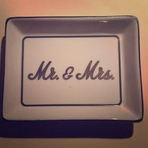 Ceramic Mr & Mrs Jewelry Cache